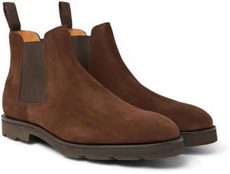 John Lobb Lawry Suede Chelsea Boots - Brown