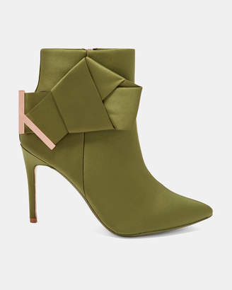 21c16ed89 at Ted Baker · Ted Baker CELIAHH Knotted bow satin ankle boots
