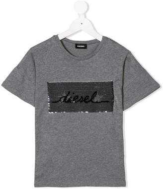 Diesel sequined logo T-shirt