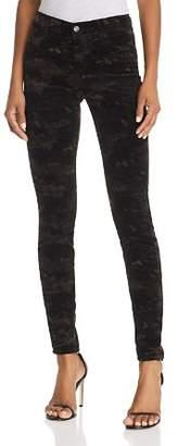 J Brand 815 Mid Rise Super Skinny Jeans in Camo Velvet - 100% Exclusive