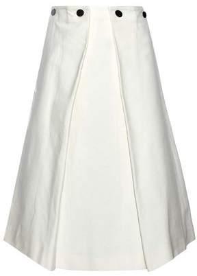 Jil Sander Cotton-Twill Midi Skirt