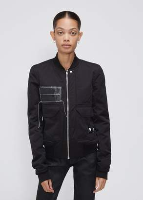 Rick Owens D RK SH D W Patched Cop Flight Jacket