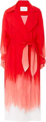 Carmen March Tie-Dye Crepe Trench Coat