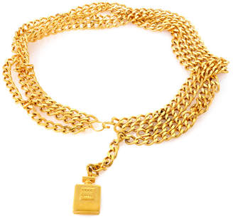 Chanel Perfume Gold Tone Bottle Belt