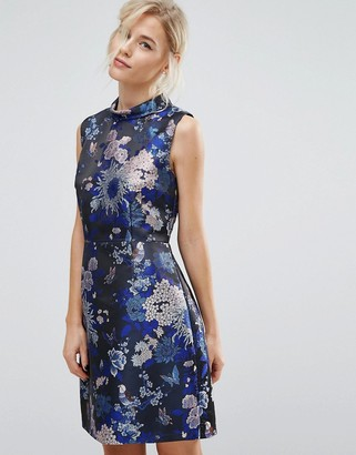Oasis Butterfly Jacquard Shift Dress $122 thestylecure.com