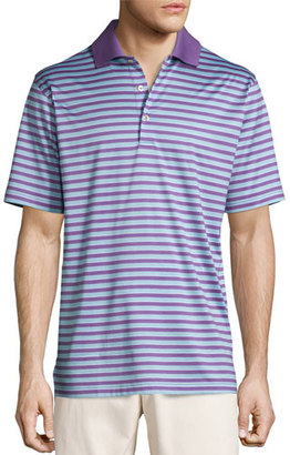 Peter Millar Gabby Striped Cotton Lisle Polo Shirt $95 thestylecure.com