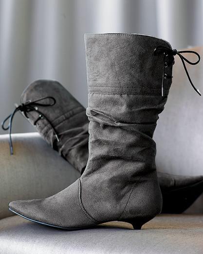 Mid-calf scrunch boot