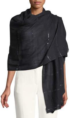 Bindya Wool-Silk Stole Delicacy w/ Sequins