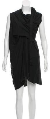 Rick Owens Asymmetrical Cowl Neck Dress
