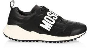 Moschino Men's Logo Dad Sneakers - Black - Size 39 (6)