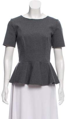 Stella McCartney Short Sleeve Peplum Top