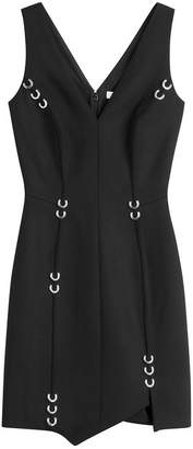 Thierry Mugler Stretch Wool Dress with Piercing Embellishment