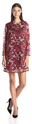 Just Cavalli Women's Floral Embroidered Shift Dress
