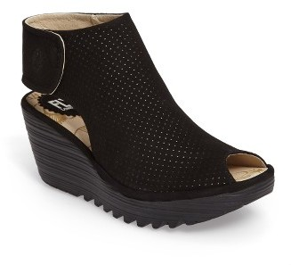 Women's Fly London Yahl Open Toe Platform Wedge $189.95 thestylecure.com