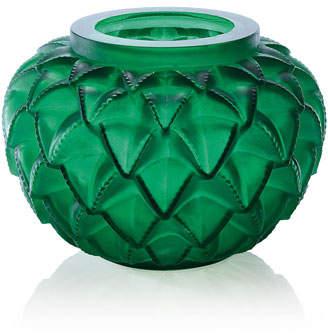 Lalique Green Languedoc Vase