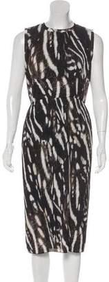 Max Mara 'S Plissé Ruffled Sleeveless Dress