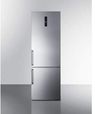 Summit Appliance Summit Built-In 11.6 cu. ft. Counter Depth Bottom Freezer Refrigerator with Icemaker