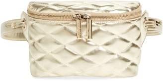 MALI AND LILI Mali + Lili Faye Vegan Leather Quilted Belt Bag