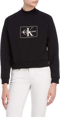 Calvin Klein Jeans Black Monogram Logo Sweatshirt