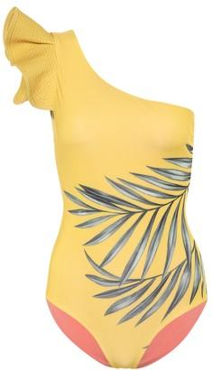 Johanna Ortiz Aloha Spirit one-shoulder swimsuit