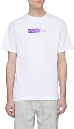 Know Wave 'TBT' logo print T-shirt