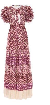 Ulla Johnson Umbra Metallic Silk Georgette Maxi Dress