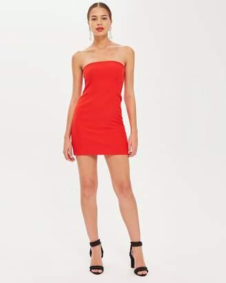 Topshop Clean Seam Bandeau Mini Dress