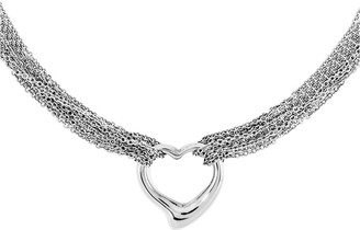 Steel By Design Stainless Steel Multi-Strand Polished Heart Toggle Necklace