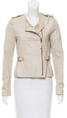 Illia Buckle-Accented Leather Jacket