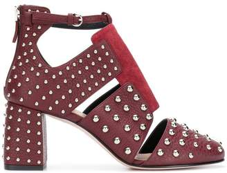 RED Valentino RED(V) metal dot ankle pumps