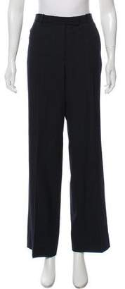 Armani Collezioni Mid-Rise Wide-Leg Pants