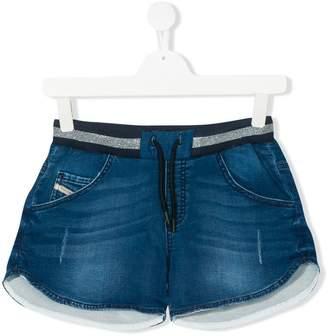 Diesel distressed effect denim shorts