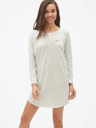 Gap Forever Favorite Henley Sleep Shirt