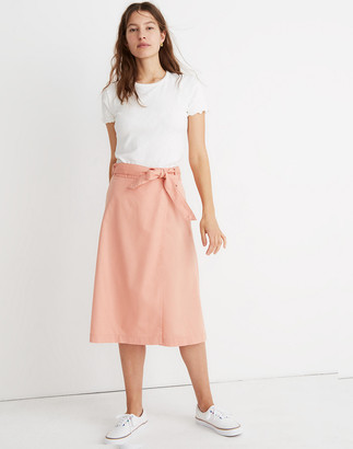Madewell Belted Wrap Midi Skirt