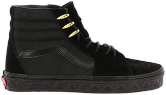 Vans Sneakers Marvel Sk8-hi Limited Edition High-laced Canvas And Suede Sneakers With Marvel Overlay