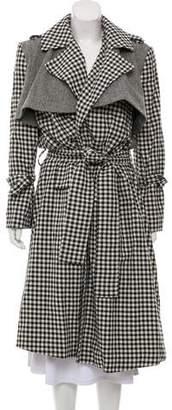 Maggie Marilyn Patterned Wool Long Coat