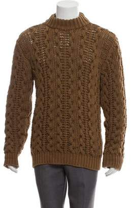 Salvatore Ferragamo Wool Mock Neck Sweater brown Wool Mock Neck Sweater