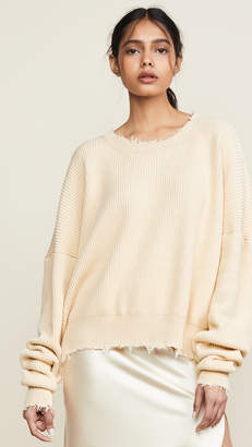 Unravel Project Oversized Crew Sweatshirt
