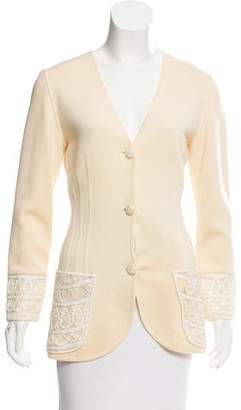 Ungaro Embroidered Wool Cardigan