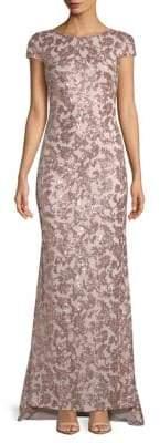 Calvin Klein Sequin-Embellished Floor-Length Gown