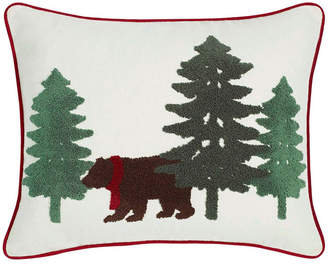 Eddie Bauer Bear Scene Dark Pine Breakfast Pillow Bedding