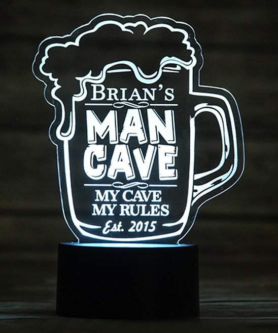 Color-Changing 'Man Cave' Personalized Desk Lamp