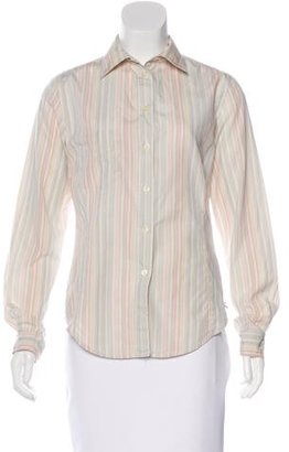 Paul Smith Striped Button-Up Top $65 thestylecure.com