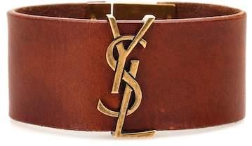 Armband Opyum Monogram aus Leder