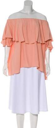MLM Label Off-The-Shoulder Short Sleeve Top w/ Tags