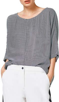 Esprit Striped Three-Quarter Sleeve Knit Top