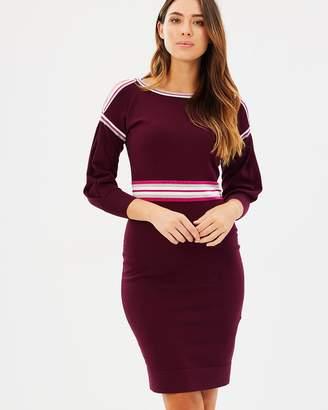 Karen Millen Sporty Stripe Knitted Dress
