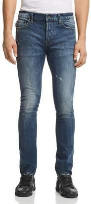 John Varvatos Bowery Slim Fit Jeans in Medium Blue - 100% Exclusive