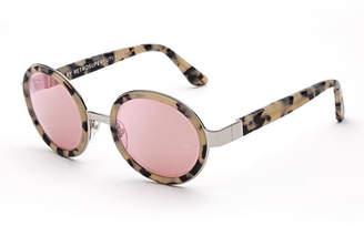 RetroSuperFuture Super by Santa Gel Round Sunglasses, Cream Havana