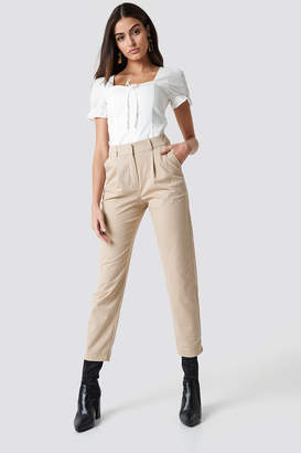 BEIGE Na Kd Trend Cotton Blend Suit Pants